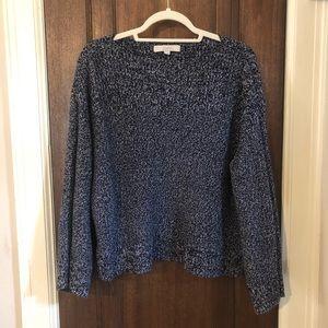 LOFT navy heather sweater